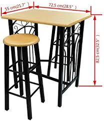 Unik always Breakfast/Dinner Table Dining Set MDF ... - Amazon.com