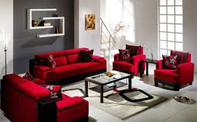 Red Decoration For Living Room Amusing Red Living Room Furniture Decorating Ideas With Small Home