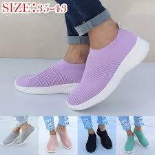 HEFLASHOR <b>Women Vulcanized</b> Shoes Sneakers <b>Female Knitted</b> ...