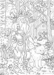 Forest Spirit Printable Adult Coloring Page From Favoreads