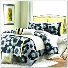black and white chevron bedding yellow gray twin blac