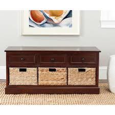 dark cherry pine wood 3 drawer