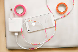how to decorate your cables with washi tape pin it