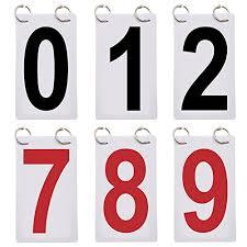 Number Flip Chart Gogo 6 Sets Score Reporter Number Flip Chart For Scoreboard