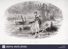 charles dickens david copperfield summary the river illustration  the river illustration from the charles dickens novel david stock stock photo the river illustration from