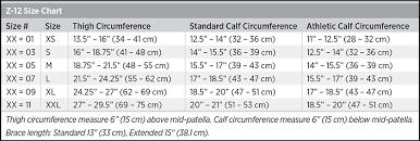 Breg Knee Brace Size Chart Z 12 Size Chart Breg Inc