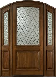 french mahogany solid wood front entry door single with 2 sidelites gd 552wdg