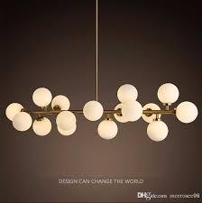 modern led chandelier light fitting 16 led lights bubble chandelier restaurant hanging lamp pendant suspension drop lighting glass chandelier shades