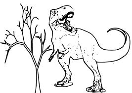 Tyrannosaure Coloriage Du Dinosaure Tyrannosaure Gratuit Imprimer