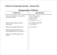 12 T Chart Templates Free Sample Example Format