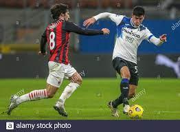 MILAN, ITALY - JANUARY 23: Sandro Tonali of AC Milan, Matteo Pessina of  Atalanta during the Serie A match between AC Milan and Atalanta Bergamo at  Sa Stock Photo - Alamy
