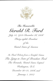 Invitation For Funeral Presidential Funeral Memorabilia 15