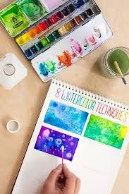 beginner canvas painting ideas toolbox 8 watercolor techniques