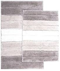 eclipse 2 piece striped bathroom rug set large x and naturally home sets target