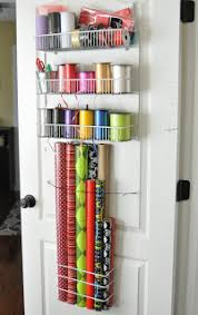 She's crafty: Gift Wrap organizer Back of craftroom door?