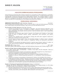 Human Resources Resume Objective 12 Hr Example Sample
