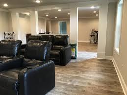 Basement Interior Design Custom Basement Remodel With Luxury Vinyl Plank Flooring Beautiful