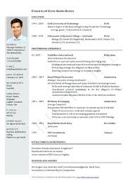 Cv Europass Curriculum Vitae Format Environmental Officer Sample