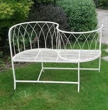garden furniture metal benches the