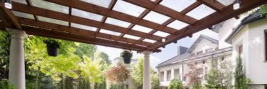 outdoor room covered with shade sails