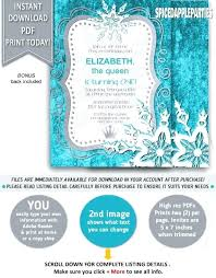 make your own frozen invitations frozen invitation alanalouise