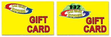 car wash gift card