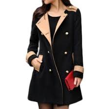 jacket coat black tan military style coat women s trench coat fall outfits winter outfits wheretoget
