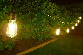 outdoor led decorative string lights 10 pendant sockets fits e26 bulbs shown with st18d x9df sold separately installed