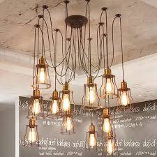 types unique beautiful industrial chandelier home decor ideas multiple ceiling spider lamp light pendant lighting shade