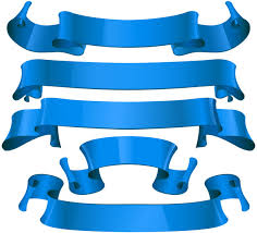 Blue Ribbon Design Sets Of Blue Ribbon Banners For Promotion Free Vector In