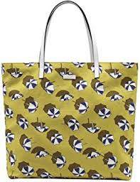gucci bags sale amazon. gucci yellow cardamom parasol print canvas leather detail tote bag bags sale amazon