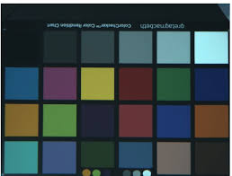 Color Calibration Chart Gretagmacbeth Colour Checker Chart Image Used For