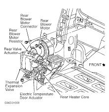 pontiac montana 1999 the ac to the rear is warm front ac is cold graphic