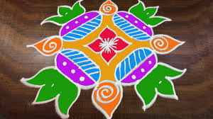 Sankranthi Designs With Dots 299 Rangoli Art 6 X 6 Dots Easy Rangoli Designs With