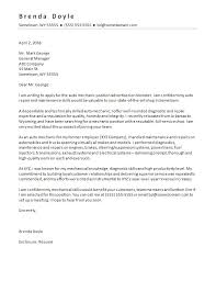 Sample Email To Apply For A Job Sample Cover Letter Job Mechanic Cover Letter Sample Email Cover