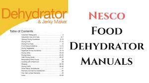 nesco food dehydrator manuals all models