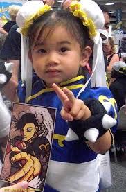 Chun Li Costume Baby Cosplaying as chun li from - Baby_Chun_Li_Gudfit