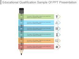 Educational Qualification Sample Of Ppt Presentation