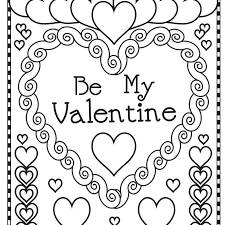 Free printable valentine cards for kids. Free Printable Valentine S Day Coloring Pages