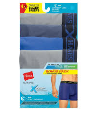 Hanes Briefs Size Chart Hanes Uabb4a Mens Assorted Dyed X Temp Air Poly Boxer Brief Pack Of 3 1 Bonus