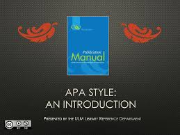 Apa Style An Introduction Ppt Download