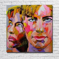 oil painting supplies man and women knife painting home decoration wall art artist oil painting hand