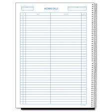 Phone Message Log Book Wirebound Call Register 8 1 2 X 11 3 700 Forms Book