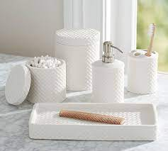 Porcelain Basketweave Accessories Pottery Barn