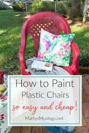 how to spray paint plastic chairs an