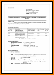 Simple Resume Format For Freshers In Ms Wordnokiaaplicaciones Com