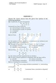 linear equations class 10 previous year