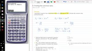 calculating the common ratio