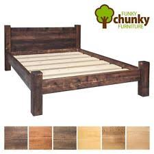 rustic bed frames. Modren Frames Rustic Bed Frame  Solid Wood Double King Funky Chunky Furniture 2 Plank To Frames