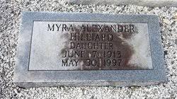 Myra Marcelle Alexander Hilliard (1913-1997) - Find A Grave Memorial